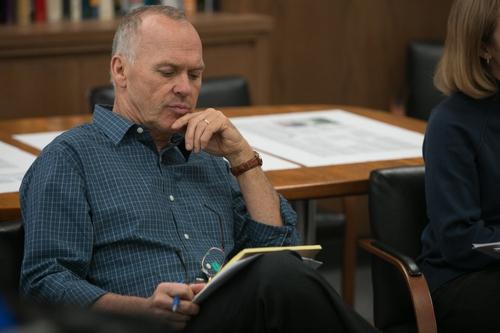 Michael Keaton plays Editor, Walter Robinson, in Spotlight