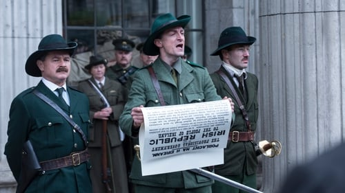 Marcus Lamb (centre) as Padraig Pearse in Rebellion