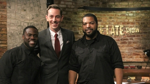 Kevin Hart, Ryan Tubridy and Ice Cube