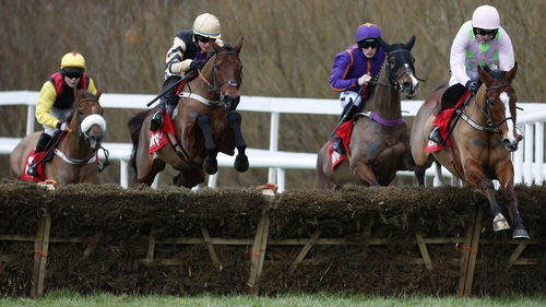 Faugheen (R) is among Mullins' 12 entries for the Hatton's Grace Hurdle