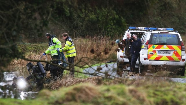 The Garda Underwater Unit carries out further searches following the latest discovery at Sallins