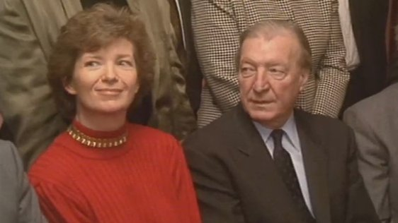 Mary Robinson and Charles Haughey in 1991