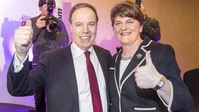 DUP deputy leader Nigel Dodds and leader Arlene Foster