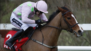 Ruby Walsh riding Faugheen clears the last to win The BHP Insurance Irish Champion Hurdle Race at Leopardstown
