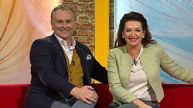 Dáithí Ó Sé with his Today co-presenter Maura Derrane