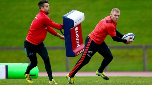 Conor Murray (L) and Keith Earls are back for Munster