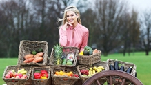 Pippa O'Connor encouraging us to eat our 5-a-day