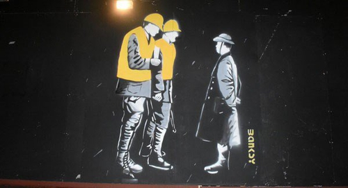 Bansky has denied that he is responsible for the Moore Street mural