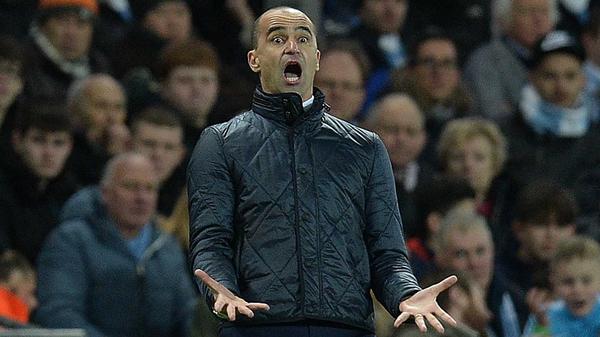 Roberto Martinez is under increasing pressure at Everton