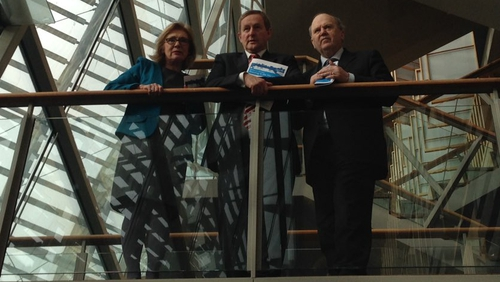 The Taoiseach was in Limerick with Ministers Jan O'Sullivan and  Michael Noonan. Pic: Cathy Halloran, Twitter