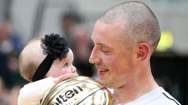 Kieran Donaghy with his daughter Lola-Rose after Saturday's Intermediate Cup final