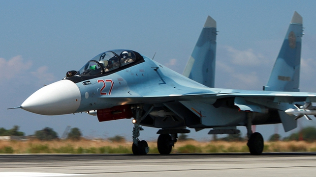 A Russian SU-34 fighter bomber plane allegedly violated Turkish airspace