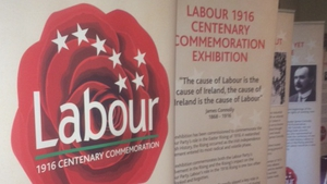 Labour's event looked towards the Easter 1916 centenary. James Connolly featured heavily in the party's 1916 commemoration exhibition