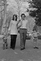 Wogan with wife, Helen Joyce, and their children Alan and Mark, in 1972.
