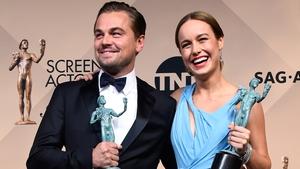 Leonardo DiCaprio and Brie Larson