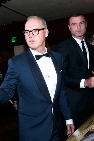 Michael Keaton and Liev Schreiber