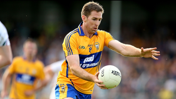 Gary Brennan hit the net for Clare