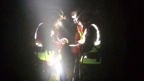 Three teams from Galway Mountain Rescue, local coastguard units and two search dogs all took part in the operation (Pic: Galway Mountain Rescue)