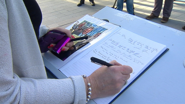 Members of the public have been signing the books in Limerick