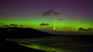 Auroral Reflections: This beautiful aurora display was taken over Downings, Co Donegal (Pic: Brendan Alexander)