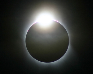 Diamond Ring: The diamond ring effect, seconds before totality during a solar eclipse trip to Turkey (Pic: Dave Lillis)
