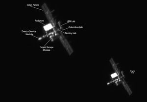 International Space Station: This image was taken in a back garden in Balbriggan, Co Dublin by Carl O'Beirne