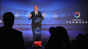 Gianni Infantino unveiling his a 90-day action plan alongside some influential backers at Wembley Stadium