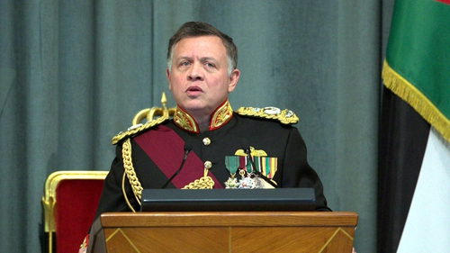 King Abdullah said the refugee crisis was overloading Jordan's social services and threatening regional stability