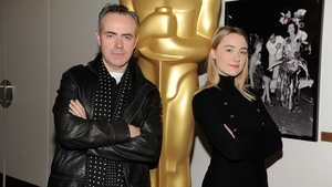 John Crowley pictured with Saoirse Ronan.