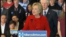 Hilary Clinton wins Iowa Caucus by slight margin
