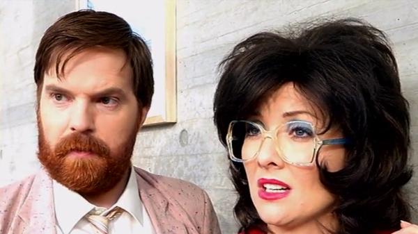 Bernard O'Shea and Jennifer Zamparelli as Bridget and Eamon