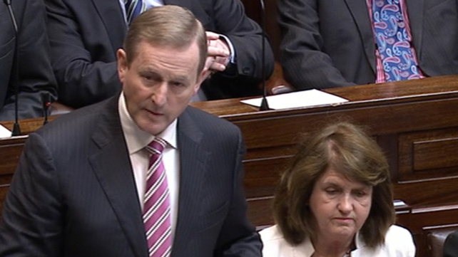 Enda Kenny addresses deputies in the Dáil this morning