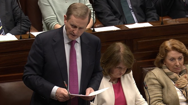 Enda Kenny seeks the dissolution of the Dáil