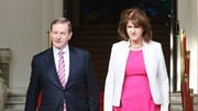 Enda Kenny and Joan Burton hope the current coalition will be re-elected