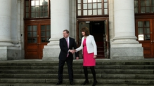 'This is not goodbye' Enda Kenny wished Joan Burton well before he headed to the Phoenix Park