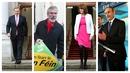 Ceannairí na bpríomhpháirtithe a bhí ar TV3 ag díospóireacht aréir. Ó chlé:Enda Kenny,Gerry Adams,Joan Burton,Micheál Martin