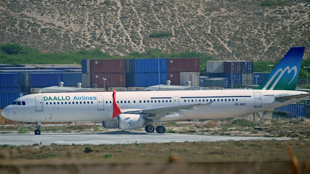 The plane landed safely at Mogadishu airport