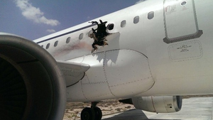 The pilot landed the plane in the Somali capital, from where it had taken off