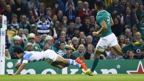 Ireland lost 43-20 to Argentina in October