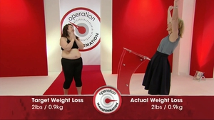 Clare achieved her weight loss target of 2lbs