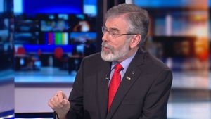 Gerry Adams was tackled on his comments about the Special Criminal Court