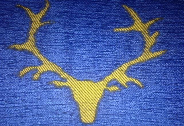 This beautiful reindeer emblem is everywhere
