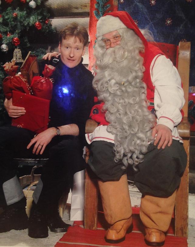 Even Conan O'Brien dropped by to see Santa