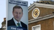 Tacaíocht Fhine Gael tite de réir na pobalbhreithe san 'Irish Times'