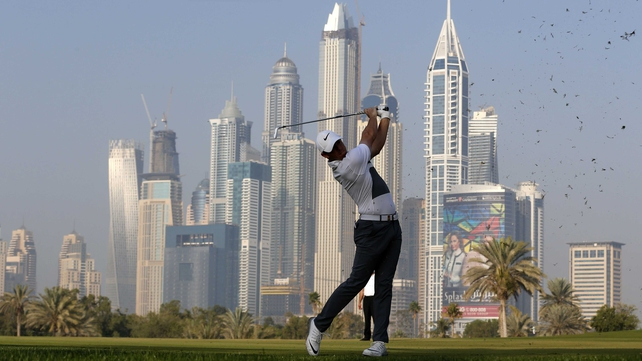 Rory McIlroy is chasing his third victory at the Omega Dubai Desert Classic