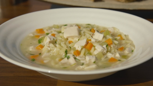 Root Vegetable, Chicken, Orzo Broth: Neven Maguire