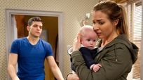 Carly takes Johnny away from Kirin after he screams at the baby