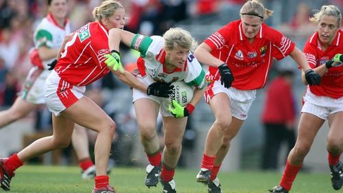 Cora Staunton (centre) was supreme for Mayo against Cork