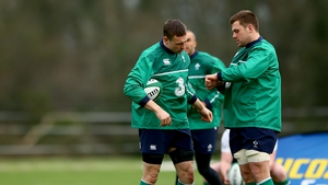 Tommy O'Donnell and CJ Stander at training today