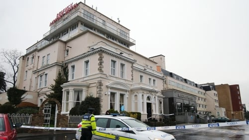 The shooting happened at the Regency Hotel in Dublin in February 2016